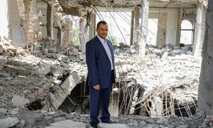 Ameen Hussain Jubran, head and founder of the Yemeni non-governmental organization Jeel Albena.