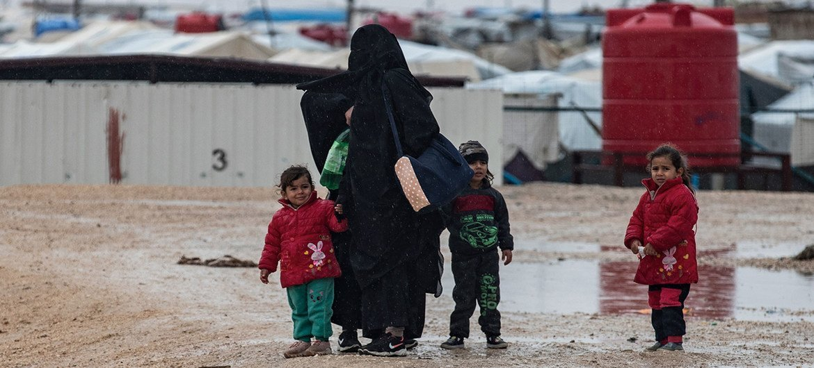 In Al-Hol camp in northeastern Syria, more than 60,000 displaced people, most of them women and children, live in often dire conditions.
