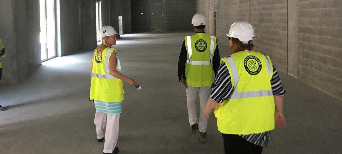 2019年7月17日,2020年世博会联合国馆的筹备团队前往迪拜,对展馆内部进行实地考察。
