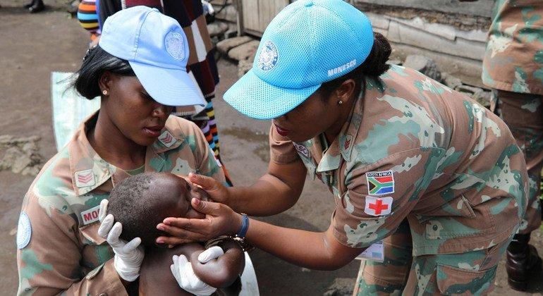 Женщины-миротворцы из Южной Африки проходят службу в миротворческой операции ООН в Демократической Республике Конго.