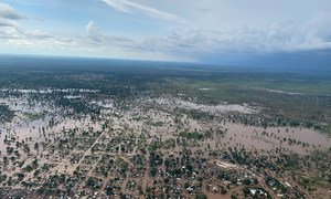 Des camps de réfugiés inondés dans le comté de Maban, dans le nord du Soudan du Sud.