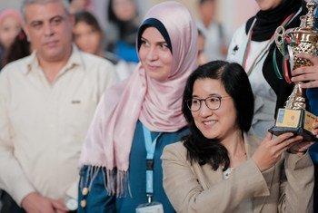 تشيتوسي نوجوتشي مديرة مكتب برنامج الامم المتحدة الانمائي في غزة