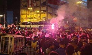 Demostration in Lebanon