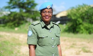 La Inspectora Jefe Doreen Malambo, que trabaja en la Misión de las Naciones Unidas en Sudán del Sur, es la ganadora del Premio a la Mujer Policía del Año 2020.