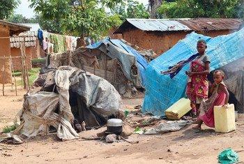 Miembros de la comunidad indígena Mbuti en RD Congo ahora viven en campamentos al ser desplazados por la violencia en Beni.