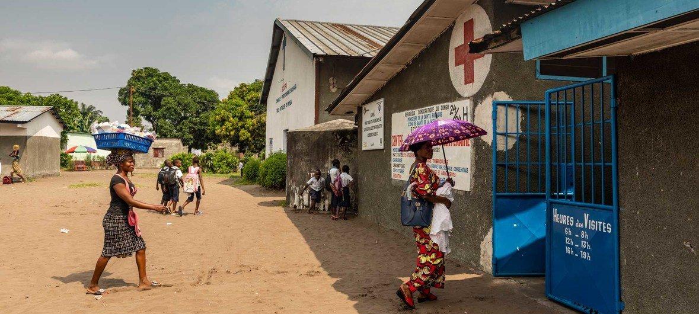 Kituo cha afya cha wilaya ya Nsele Congo DRC kikitoa huduma za vipimo kwa watoto na matibabu ya surua