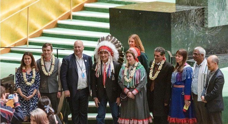 من الأرشيف: فعالية في الجمعية العامة احتفالا بانتهاء عام لغات الشعوب الأصلية في 2019.