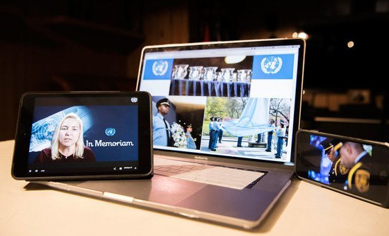 A cerimônia virtual foi dirigida pela presidente do Sindicato dos Trabalhadores da ONU, Patricia Nemeth, e pelo secretário-geral, António Guterres.