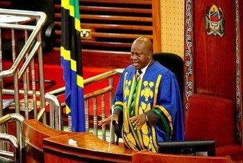 Job Ndugai, Spika wa Bunge la Tanzania akiongoza Bunge wakati wa moja ya vikao vya mkutano wa Bunge la 11 lililomaliza muda wake hivi karibuni.