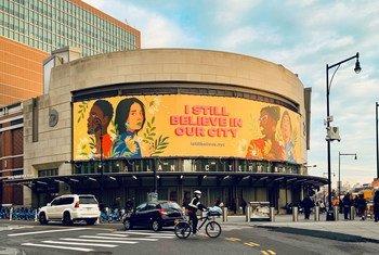 'आई स्टिल बिलीव इन दिस सिटी' नामक अभियान का प्रतिनिधित्व करती एक तस्वीर