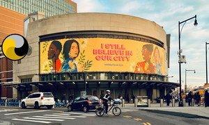 Cartel de la campaña antirracista Todavía creo en nuestra ciudad.