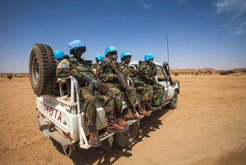 Vikosi vya UNAMID vikiwa katika doria Darfur