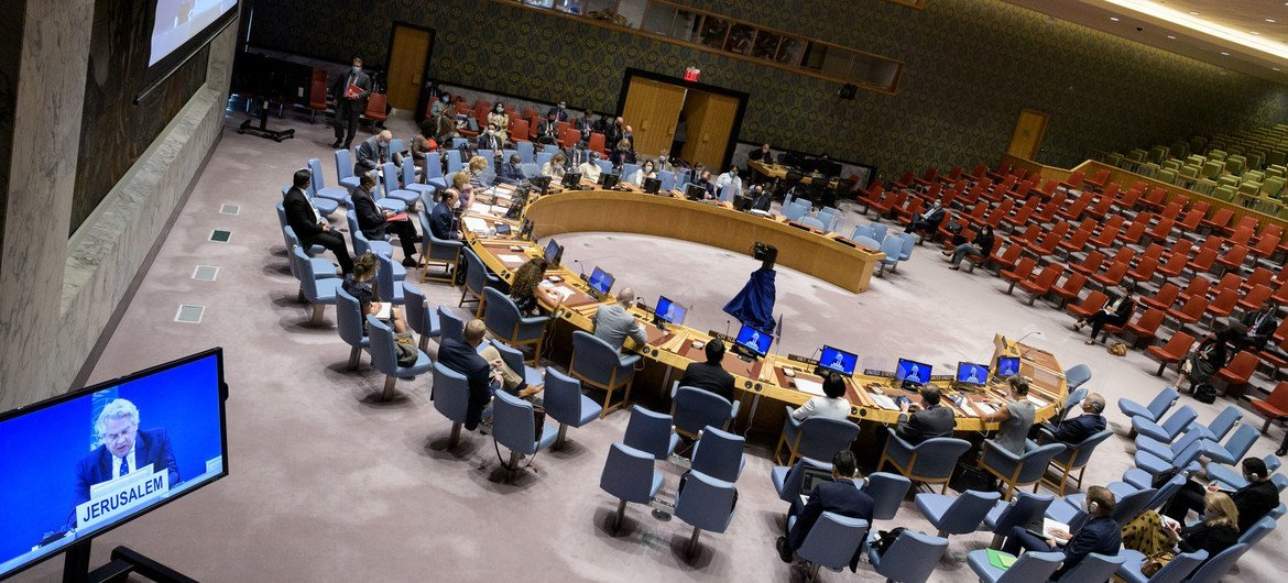 The Security Council meets to discuss the Middle East and the Palestinian question.