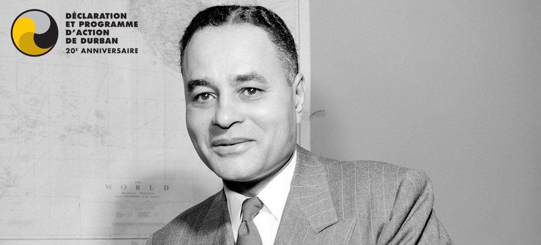 Ralph Bunche (Etats-Unis, 1904-1971) Haut fonctionnaire des Nations Unies, Prix Nobel de la paix 1950.