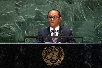 Dionisio da Costa Babo Soares, Minister for Foreign Affairs and Cooperation of the Democratic Republic of Timor-Leste, addresses the 74th session of the United Nations General Assembly's General Debate. (30 September 2019)