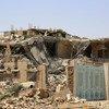 منازل في صنعاء، اليمن، دمرتها الغارات الجوية. (من الأرشيف)