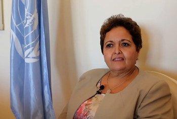 القاضية المغربية، والخبيرة في مجال مكافحة الإتجار بالبشر، أمينة أفروخي، رئيسة قطب النيابة العامة المتخصصة والتعاون القضائي برئاسة النيابة العامة، منذ 2017 بعد استقلال السلطة القضائية.
