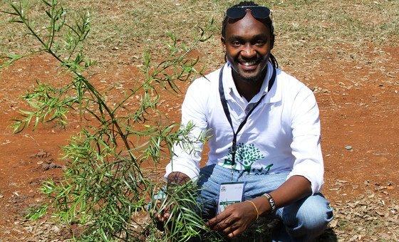 Richard Kakunga Wambua, Director and CEO of the Kenya-based MeForest Initiative.