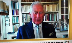 HRH Prince Charles addresses the UN Summit on Biodiversity in a pre-recorded message from the UK..