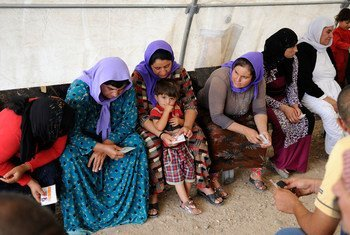Many Yazidi families fled their homes and took refuge in the Bajet Kandala camp for internally displaced people in northern Iraq. (file)