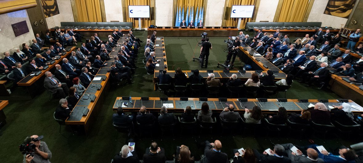 UN Special Envoy for Syria Geir O. Pedersen chairs the first face-to-face talks between Government and opposition to take place during the nearly nine-year Syria conflict, as the Syrian Constitutional Committee meeting in Geneva got underway, 30 October.
