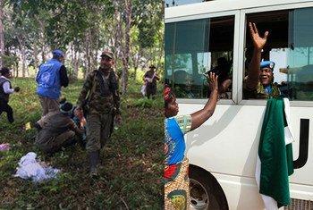 Proceso de desarme en Colombia; cascos azules en Liberia; imágenes de la COP25