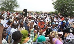 Celebrating UNAMID UN Day in Hasahisa IDPs Camp in Zalingei, Central Darfur, Sudan. (2019)