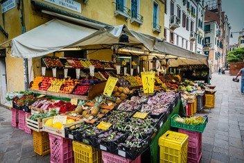 Marché à Venice en Italy