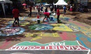 Un terrain de jeux à Nairobi, la capitale du Kenya, amélioré grâce aux propositions émises lors des ateliers Block by Block