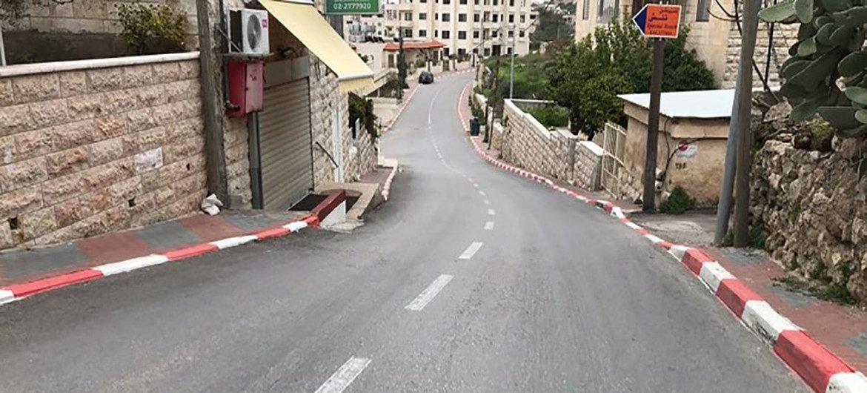 مدينة بيت لحم في الأراضي الفلسطينية المحتلة تخضع للحجر منذ بدايات آذار/مارس
