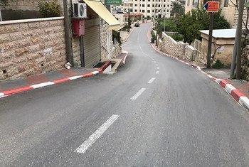 La ville de Bethléem dans le territoire palestinien occupé est en quarantaine depuis début mars en raison de la pandémie de Covid-19