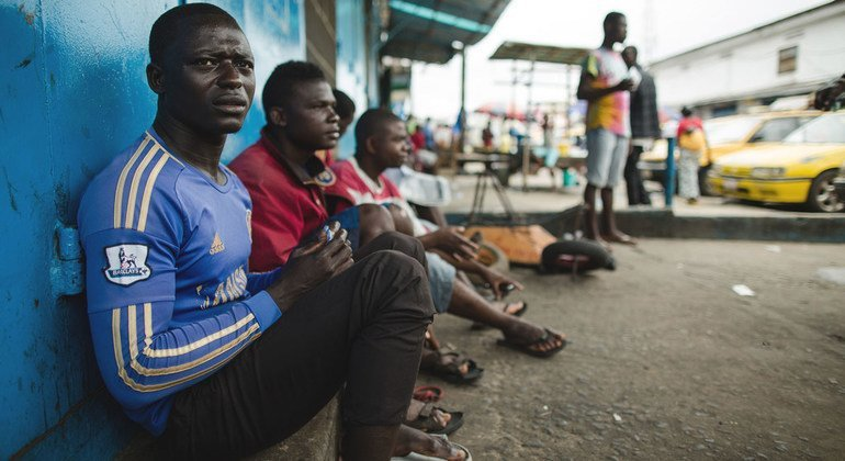 Unemployed taxi drivers during the Ebola crisis, Liberia 2014. The COVID-19 crisis threatens to disproportionately hit developing countries with income losses expected to exceed $220 billion.