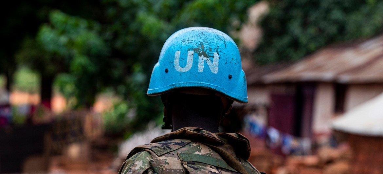Soldado de paz da ONU na República Centro-Africana