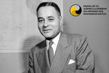 Ralph Bunche ( Mmarekani 1904 - 1971) Afisa wa Umoja wa Mataifa, Msindi wa tuzo ya Amani ya Nobel
