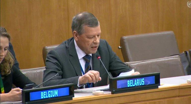Постоянный представитель Беларуси при ООН В. Рыбаков