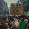 Демонстрация в поддержку легализации абортов. Буэнос-Айрес, Аргентина.