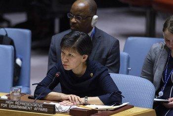 Исуми Накамицу, заместитель Генсека ООН и Высокий представитель по вопросам разоружения, выступила на заседании Совбеза.