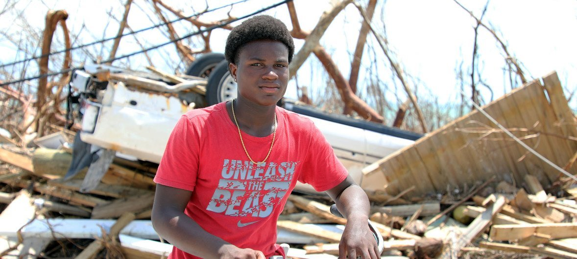 Fifteen-year-old Benson Etienne and his household  escaped earlier  their location   collapsed successful  the hurricane-hit Marsh Harbour, successful  Abaco Island, Bahamas.