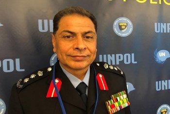 صورة العقيد الأردني عايد الأحمد كبير مستشاري الشرطة في بعثة الأمم المتحدة لدعم ليبيا (أنسميل). 11-11-2019