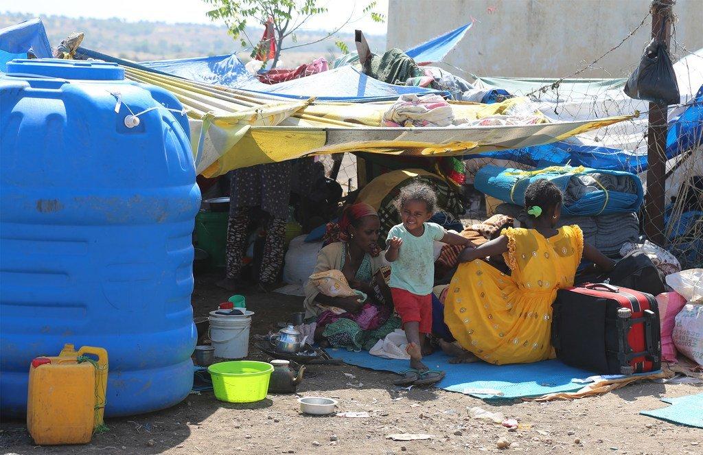 边境口岸/哈姆达耶接待中心,2020年11月17日。在埃塞俄比亚提格雷地区冲突的头两周,超过3万人越过苏丹边境逃往安全地带。