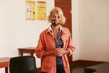 Coordenadora residente da ONU em Moçambique, Myrta Kaulard, em visita a Cabo Delgado