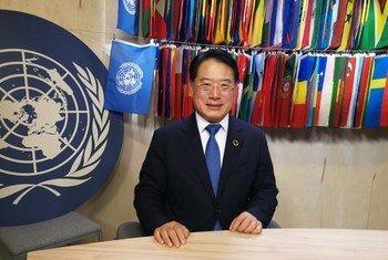 UN Industrial Development Organization (UNIDO) Director General Li Yong receives interview by UN News at UN Headquarters in New York (26/09/2019)