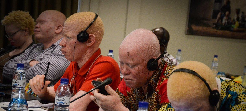 Participantes da conferência e sessão de capacitação sobre albinismo nos Países Africanos de Língua Oficial Portuguesa, Palop, que aconteceu em Maputo