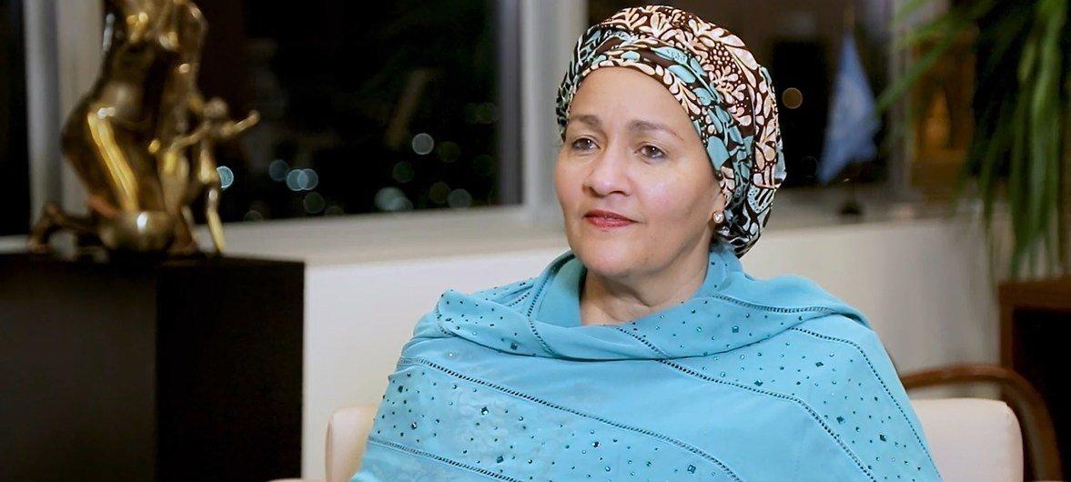 Naibu Katibu Mkuu Amina Mohammed (Desemba 2019)