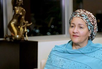 La Vice-Secrétaire général de l'ONU, Amina Mohammed (décembre 2019)