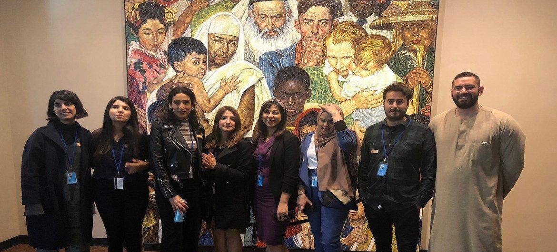صورة جماعية للمجموعة التي اجرت الجولة مع مروان البليطي
