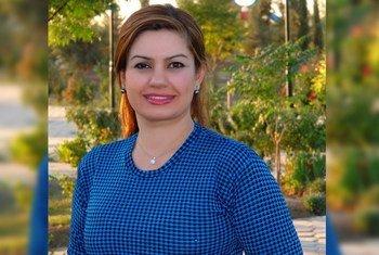 جميلة مهدي، مسؤولة حقوق إنسان في بعثة الأمم المتحدة لمساعدة العراق (يونامي) في كردستان العراق.