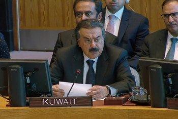خالد الجار الله، نائب وزير خارجية الكويت يقدم إحاطة في مجلس الأمن حول سوريا (20 كانون الأول/ديسمبر 2019).