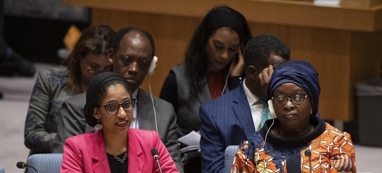 No evento, também falou a ativista Alaa Salah, do Sudão.