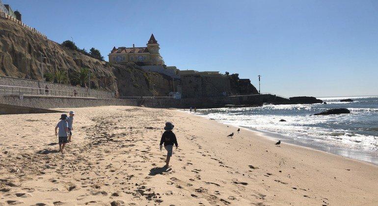 Praia da Poça, em Cascais. Portugal realizou 67% das ações globais da campanha.